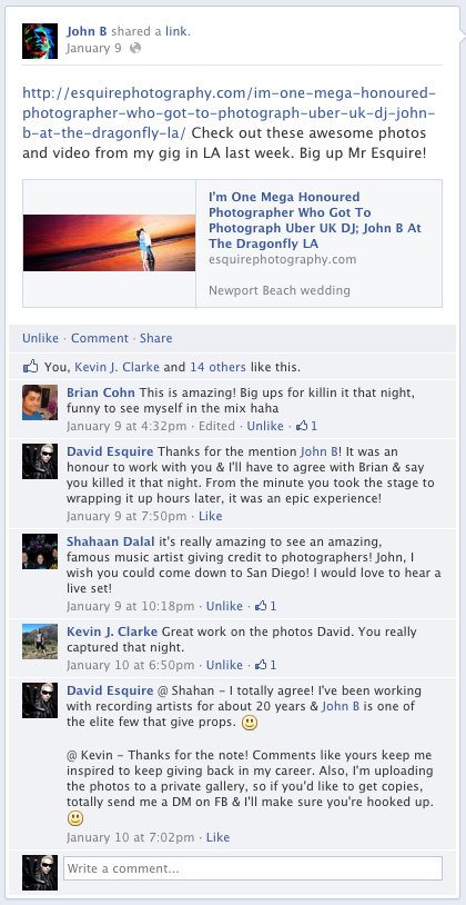 John B Facebook Mention Of Newport Beach International Photographer David Esquire
