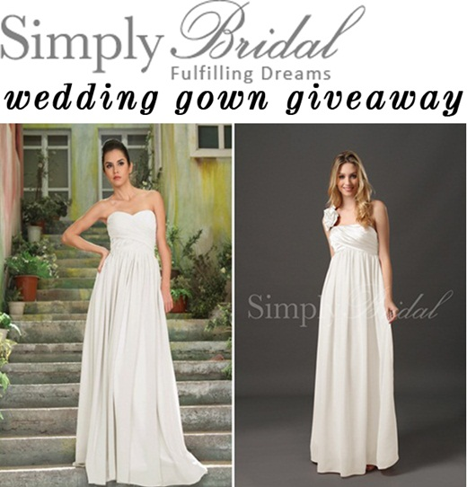 Home and family wedding dress giveaway